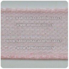 jor0014 apie 30 mm, rožinė spalva, organzinė juostelė, 1 m.