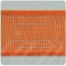 jor0015 apie 20 mm, oranžinė spalva, organzinė juostelė, 1 m.