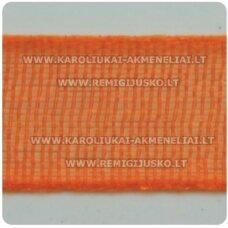 jor0015 apie 6 mm, oranžinė spalva, organzinė juostelė, apie 23 m.