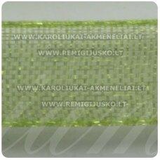 JOR0019 apie 10 mm, šviesi, samaninė spalva, organzinė juostelė, apie 23 m.