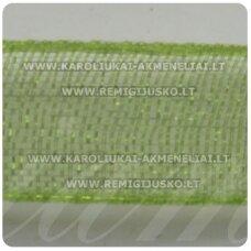 JOR0020 apie 10 mm, samaninė spalva, organzinė juostelė, apie 23 m.