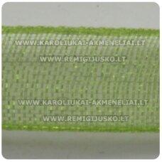 JOR0020 apie 40 mm, samaninė spalva, organzinė juostelė, 1 m.