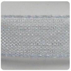 jor0021 apie 30 mm, pilka spalva, organzinė juostelė, 1 m.