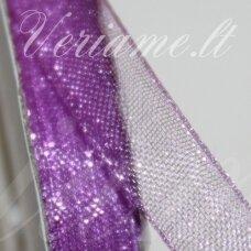 jor0023 apie 20 mm, violetinė spalva, organzinė juostelė, 1 m.