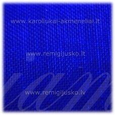 jor0024 apie 20 mm, ryški, mėlyna spalva, organzinė juostelė, 1 m.