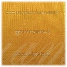 JOR0026 apie 10 mm, geltona spalva, organzinė juostelė, apie 23 m.
