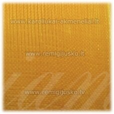 jor0026 apie 20 mm, geltona spalva, organzinė juostelė, 1 m.