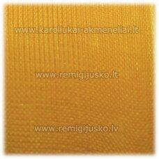 jor0026 apie 40 mm, geltona spalva, organzinė juostelė, apie 23 m.