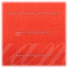 JOR0027 apie 40 mm, oranžinė spalva, organzinė juostelė, 1 m.