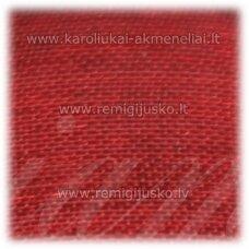 jor0028 apie 20 mm, raudona spalva, organzinė juostelė, 1 m.