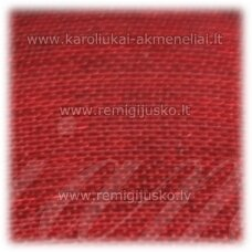 JOR0028 apie 20 mm, raudona spalva, organzinė juostelė, apie 23 m.