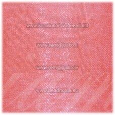 jor0029 apie 20 mm, rožinė spalva, organzinė juostelė, 1 m.
