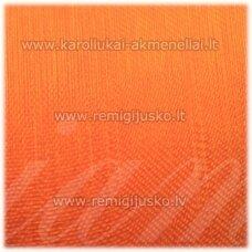 jor0035 apie 20 mm, ryški, oranžinė spalva, organzinė juostelė, apie 23 m.