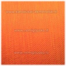 jor0035 apie 40 mm, ryški, oranžinė spalva, organzinė juostelė, apie 23 m.