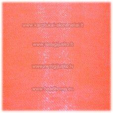 JOR0037 apie 40 mm, šviesi, rožinė spalva, organzinė juostelė, 1 m.