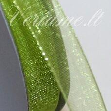 JOR0045 apie 40 mm, salotinė spalva, organzinė juostelė, 1 m.