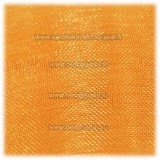JOR0049 apie 40 mm, tamsi, geltona spalva, organzinė juostelė, 1 m.