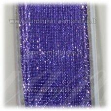 jor0064 apie 30 mm, violetinė spalva, organzinė juostelė, apie 23 m.