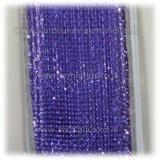 jor0064 apie 6 mm, violetinė spalva, organzinė juostelė, apie 23 m.