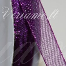 JOR0066 apie 10 mm, violetinė spalva, organzinė juostelė, apie 23 m.