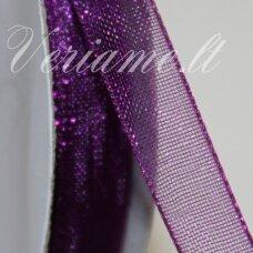 jor0066 apie 30 mm, violetinė spalva, organzinė juostelė, 1 m.