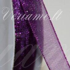 JOR0066 apie 30 mm, violetinė spalva, organzinė juostelė, apie 23 m.