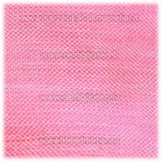 jor0067 apie 30 mm, rožinė spalva, organzinė juostelė, 1 m.