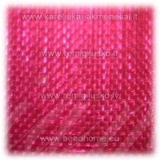 JOR0073 apie 10 mm, ryški, tamsi, rožinė spalva, organzinė juostelė, apie 23 m.