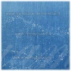 JOR0074 apie 10 mm, šviesi, mėlyna spalva, organzinė juostelė, apie 23 m.