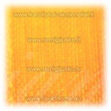 jor0077 apie 10 mm, šviesi, oranžinė spalva, organzinė juostelė, apie 23 m.