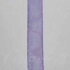 jor0102(rx044#) apie 6 mm, violetinė spalva, organzinė juostelė, apie 23 m.