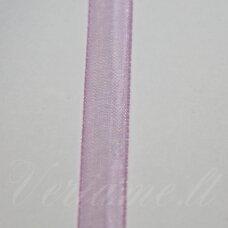 jor0107(3087) apie 6 mm, rožinė spalva, organzinė juostelė, apie 23 m.