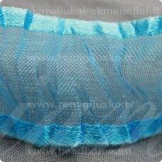 JORG0006 apie 25 mm, žydra spalva, organzinė juostelė, 1 m.