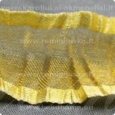 jorg0009 apie 25 mm, geltona spalva, organzinė juostelė, 1 m.