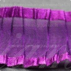 jorg0021 apie 25 mm, violetinė spalva, organzinė juostelė, 1 m.