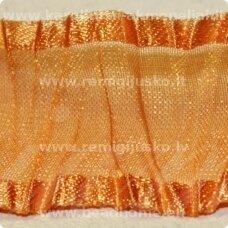 JORG0022 apie 25 mm, oranžinė spalva, organzinė juostelė, 1 m.