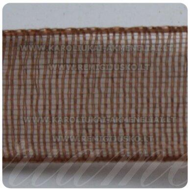 jor0004 apie 30 mm, ruda spalva, organzinė juostelė, 1 m.