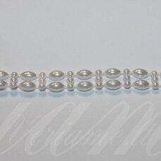 jpk0014 apie 10 mm, balta spalva, akrilinių karoliukų juostelė, apie 100 cm.