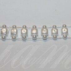 jpk0017 apie 12 mm, balta spalva, akrilinių karoliukų juostelė, 50 cm.