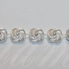 jpk0023 apie 10.50 mm, balta spalva, akrilinių karoliukų juostelė, 50 cm.