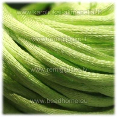 jp0033 apie 2 mm, salotinė spalva, satino virvutė, 10 m.