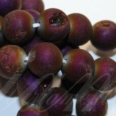 jsagdr0011-apv-20 apie 20 mm, apvali forma, violetinė spalva, agatas (druzy), apie 19 vnt.