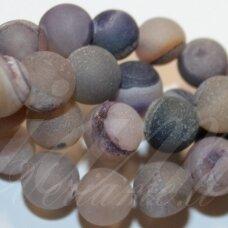 jsagdr0020-apv-16 apie 16 mm, apvali forma, margas, agatas (druzy), apie 24 vnt.