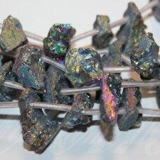 jsagdr0156-net-15x15-20x20 apie 15 x 15 - 20 x 20 mm, netaisyklinga forma, agatas (druzy), apie 18 vnt.