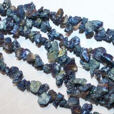 jsagdr0161-net-10x10-15x20 mm, netaisyklinga forma, margas, agatas (druzy), apie 35 cm.