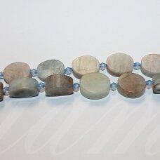 jsakam-mat-oval-17x12x6 apie 17 x 12 x 6 mm, ovalo forma, matinė, amazonitas, apie 20 vnt.