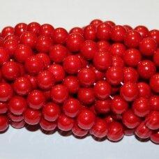 jsakpe-raud-apv-06 apie 06 mm, apvali forma, raudona spalva, perlų masė, apie 48 vnt.