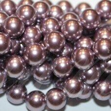JSAKPE-VIOL-APV-10 apie 10 mm, apvali forma, violetinė spalva, perlų masė, apie 38 vnt.