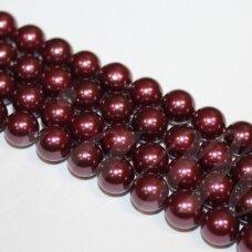 jsakpe-viol2-apv-08 apie 8 mm, apvali forma, violetinė spalva, perlų masė, apie 48 vnt.