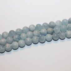 jsaqua-apv-05 apie 5 mm, apvali forma, akvamarinas, apie 80 vnt.
